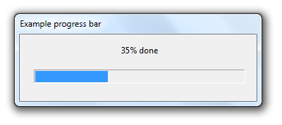 Progress bars in R using winProgressBar